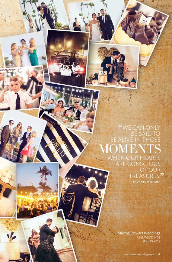Amanda And Tims Wedding In Martha Stewart Weddings. Treasure Moments. Photo  CollagesPhoto Collage DesignPhoto ...