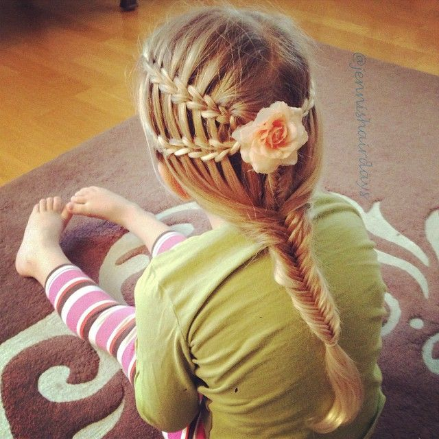 scissor waterfalls and fishtails by Jenni's Hairdays Saksiletti ja kalanruoto