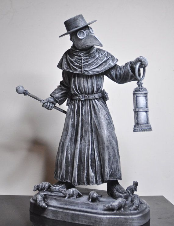 Statue de médecin de peste