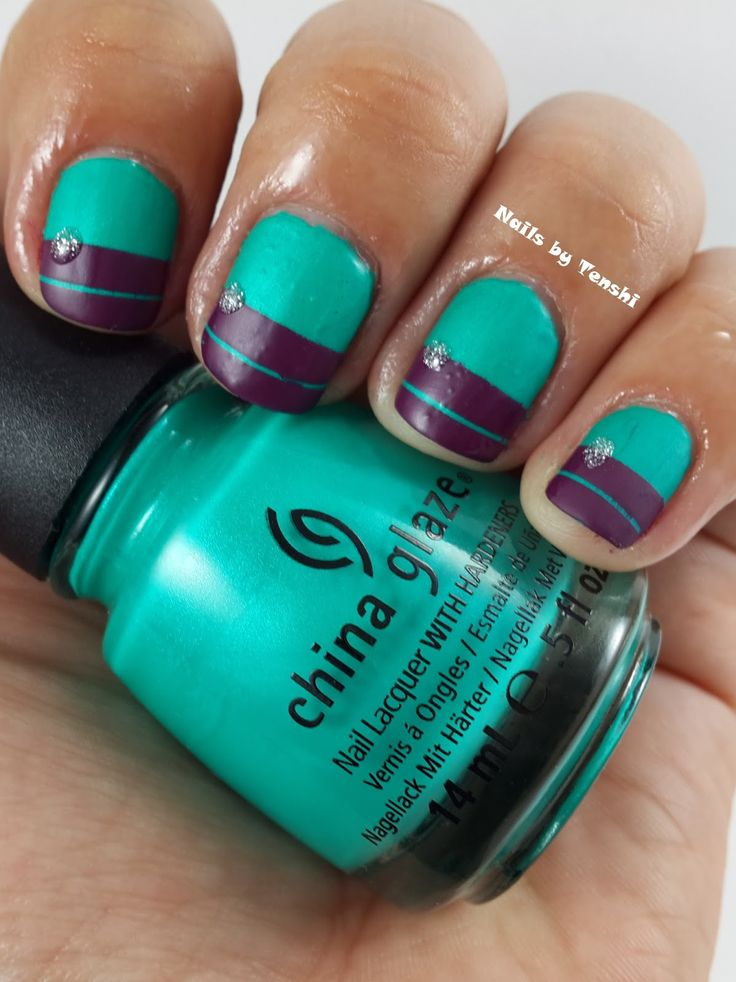 Turned Up Turquoise by #ChinaGlaze Nails by Tenshi: Reto Tipos de Esmaltes: Semana 6 - Mate/Satinado
