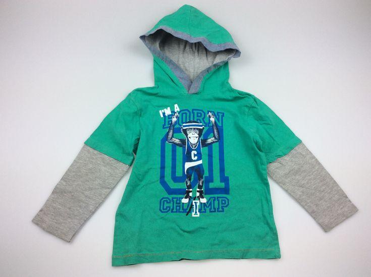 mango, hooded long sleeved t-shirt, good pre-loved condition (GUC), size 4, $6 #kidsfashion #boysfashion #daisychainclothing