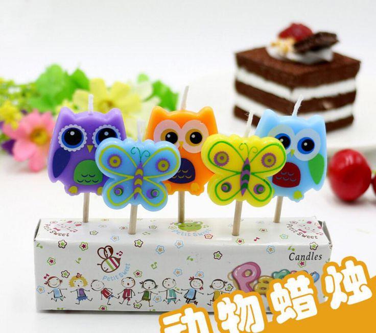 12 компл. 5 шт./компл. бабочки и сова свечи свечой на день рождения ну вечеринку свадебный подарок выпечки торта украшения