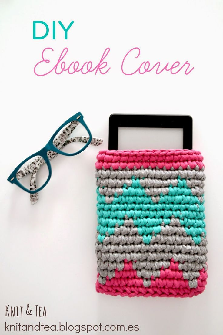 Funda ebook. Tapestry o Jacquard crochet | Aprender manualidades es facilisimo.com