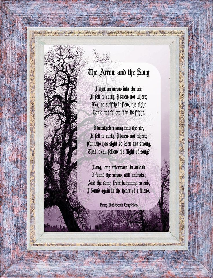 essay about henry wadsworth longfellows the arrow and the song Henry wadsworth longfellow lived from 1807-1882 during this time, he traveled a lot and learned various languages in this poem, longfellow compares the arrow to.