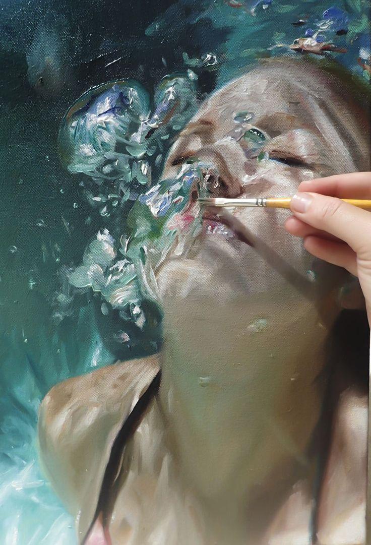 Pintura da série Aqua, de Reisha Perlmutter - Foto: Reisha Perlmutter
