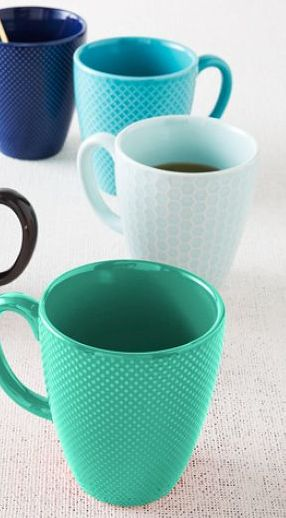 Loving these textured mugs in shades of #mint http://rstyle.me/n/gnekrnyg6