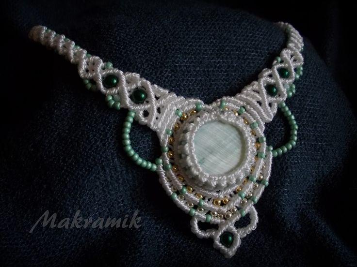 #necklace, #micro-macrame, #macrame, makrama, #mikro-makrama, #naszyjnik