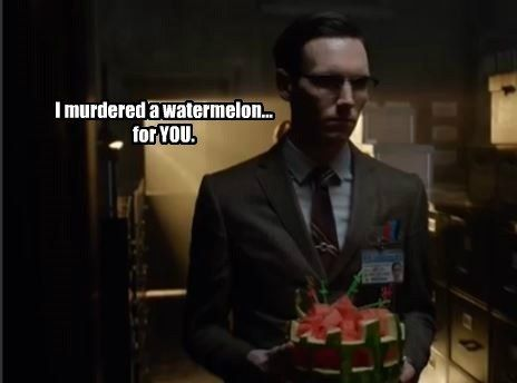 "Combining my two favorite things, humor and Gotham, here are 20 memes I have made from stills and pictures of Gotham 1x20: ""Under the Knife."""