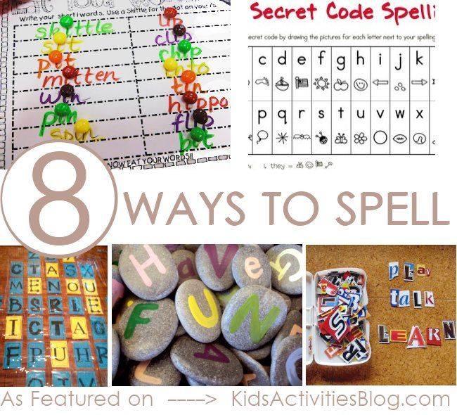 how to spell:  8 activities to help your kids learn