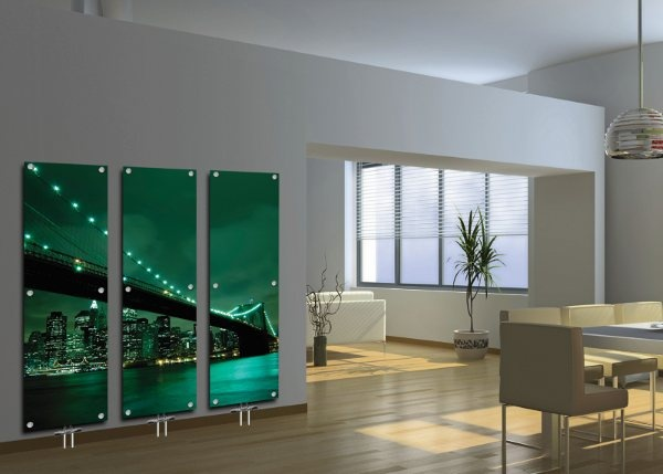 Contemporary glass radiators for Central Heating System encourage artistic creation.