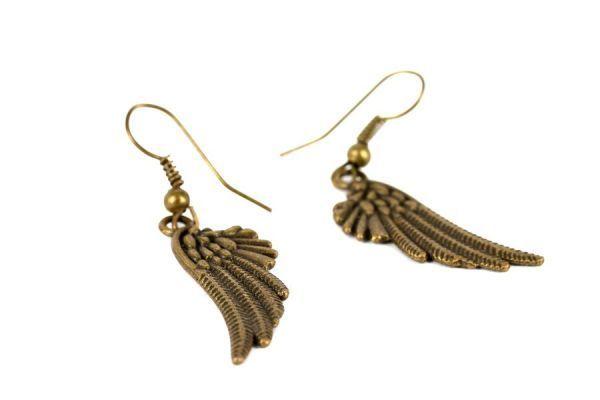Boucles oreilles ailes d'ange