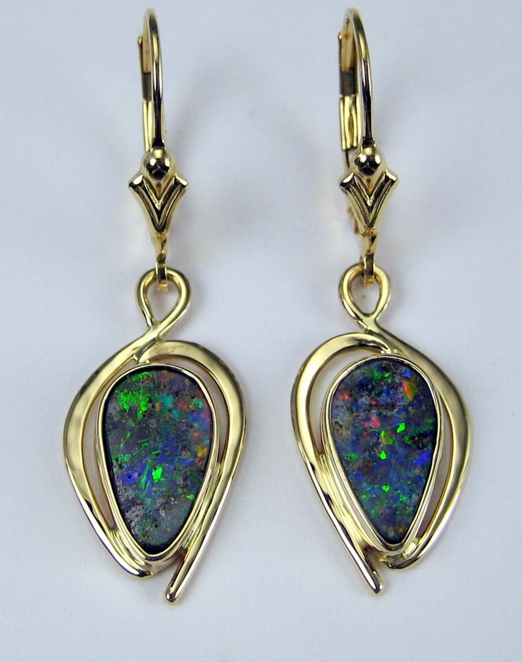 14k boulder opal earrings by david epstein fabulous for Jewelry stores boulder co