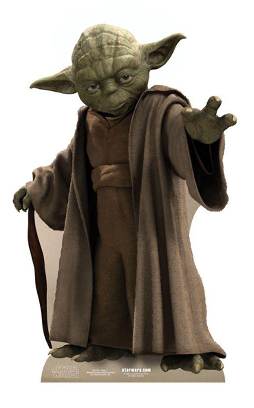 SC-473 Yoda Star Wars Höhe ca.76cm Pappaufsteller Figur Lebensgroß Aufsteller in Filme & DVDs, Film-Fanartikel, Aufsteller & Figuren | eBay