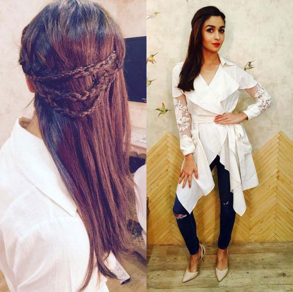 Alia bhatt's hairstyle from Shaandaar
