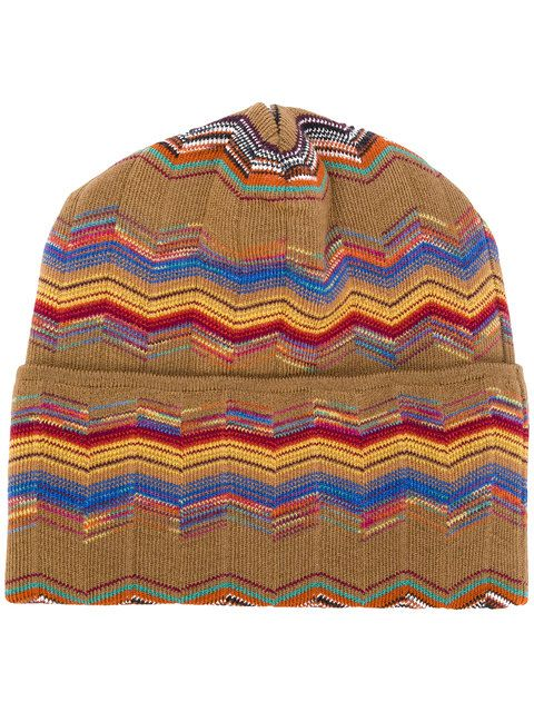 Shop Missoni patterned beanie.