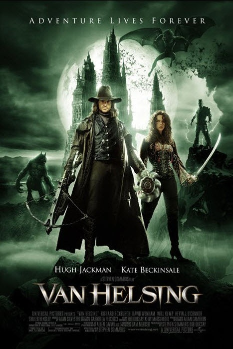 Van Helsing: Movie Posters, Film, Vans Hellish, Monsters Hunters, Hughjackman, Kate Beckins, Hugh Jackman, Favorite Movie, Halloween Movie