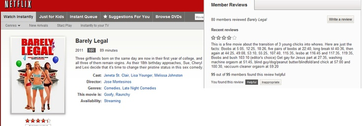 greatest netflix user review, ever.
