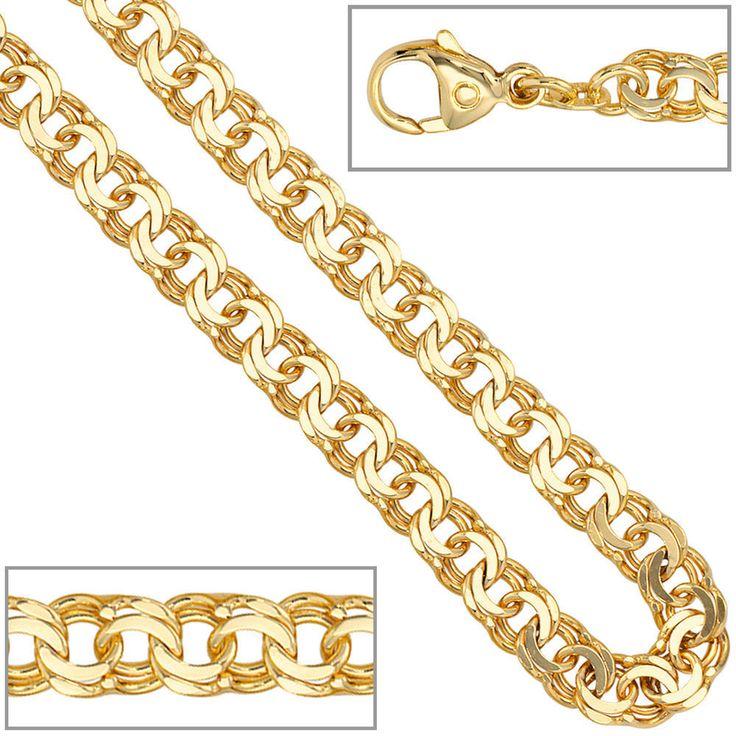 NEU 5,2 mm breit Armkette echt Gold 585 Gelbgold 14 Karat 19 cm Armband glänzend