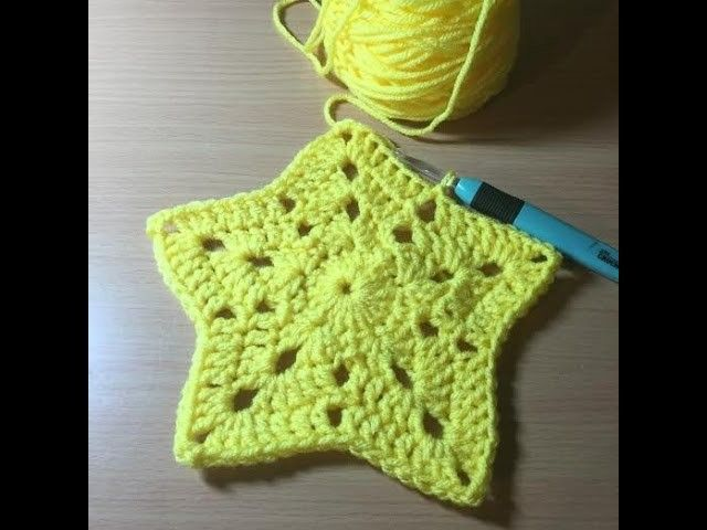 How To Crochet A Star Afghan.Blanket Tutorial