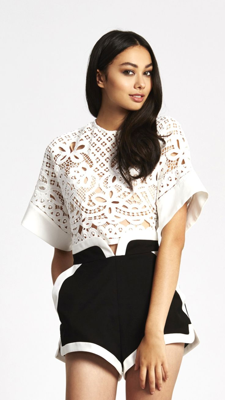 alice McCALL The Wave Top White