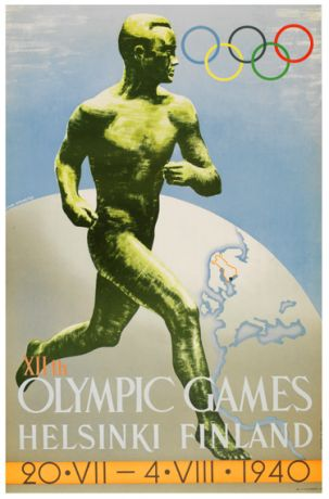 Olympic Games have been cancelled; they were due to start this month in Finland, but European war intervened.