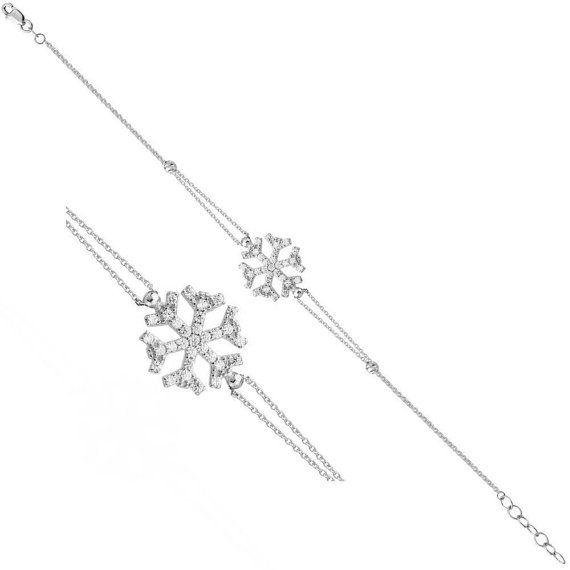 EXPRESS Worldwide SNOW FLAKE 925 Sterling Silver by JeweeDiamond, $39.90