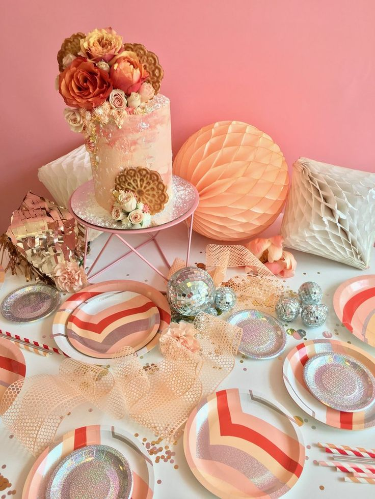 BASH Peachy Vibes Large Plates @bashpartygoods