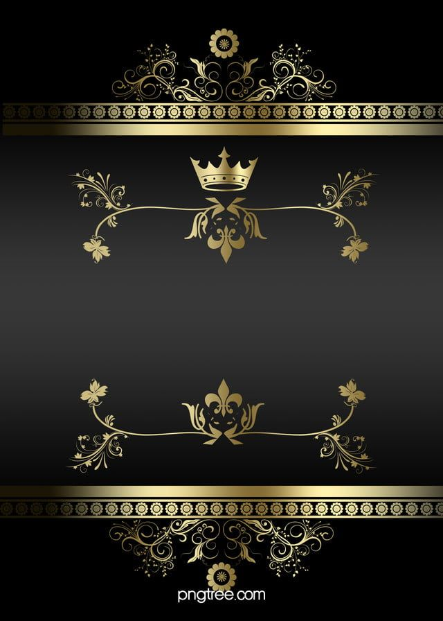Fundo De Negocios De Linhas De Moldura De Ouro Preto Atmosferica Gold Design Background Flower Graphic Design Gold Wallpaper Phone