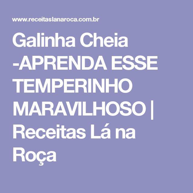 Galinha Cheia -APRENDA ESSE TEMPERINHO MARAVILHOSO | Receitas Lá na Roça