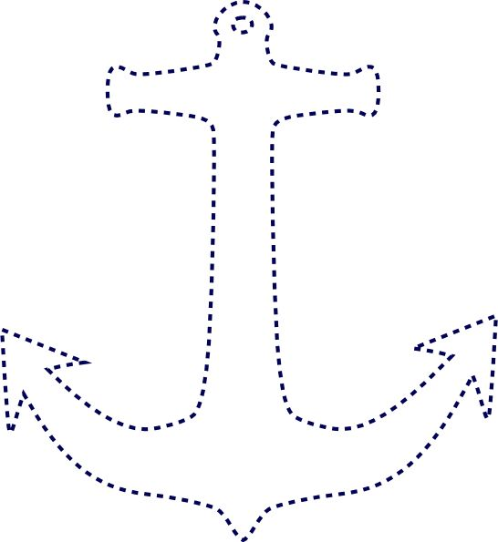 anchor outline image | Stiched Anchor clip art