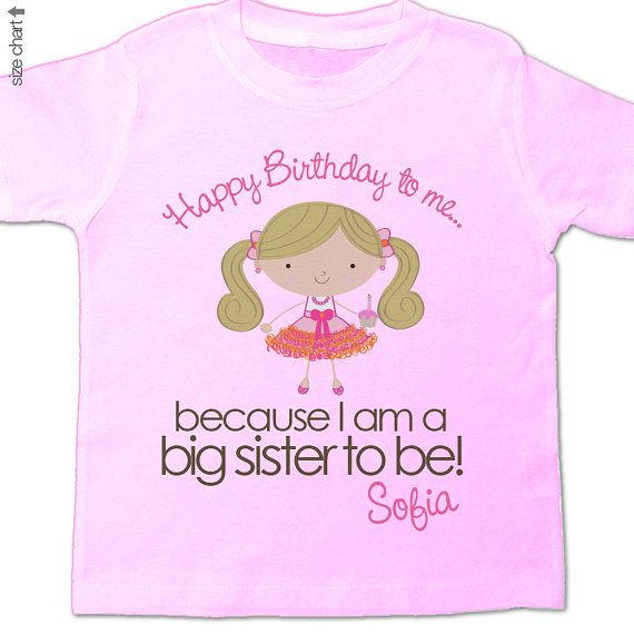 Big sister shirt Happy Birthday to me party girl by zoeysattic