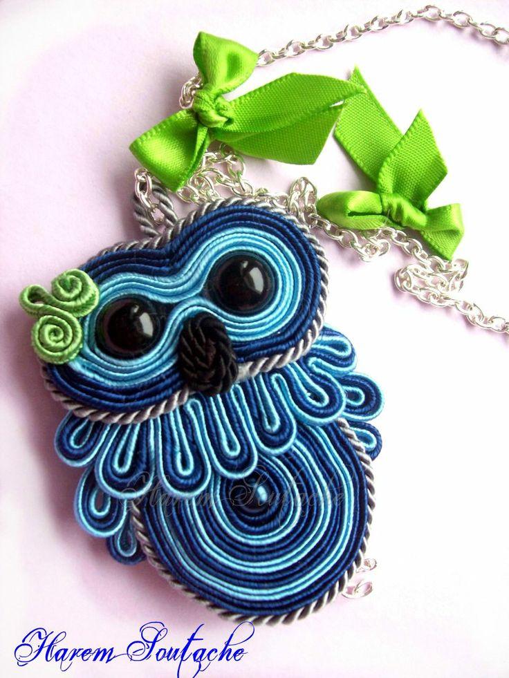 Soutache owl
