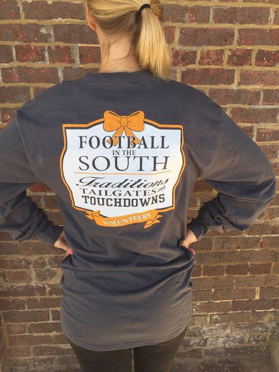 TN Football tshirt Ladies Tennessee football shirt by CloverDepot