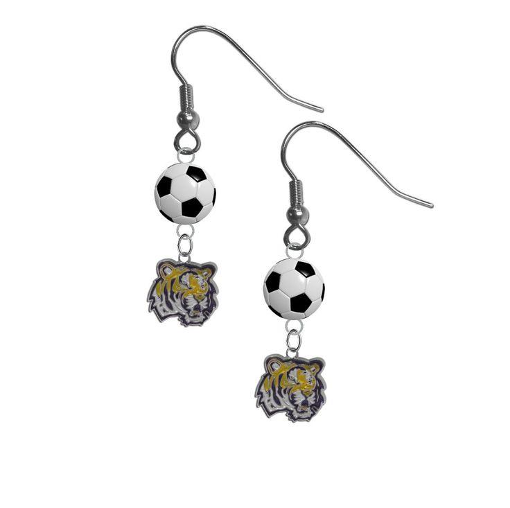 LSU Tigers NCAA Soccer Dangle Earrings