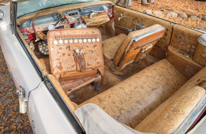 WHOAaaaa!  Had to pin it somewhere! ☺   Roy Rogers 1963 Pontiac Bonneville stampedes to auction in NewYork.