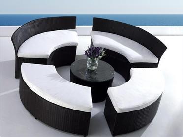 Cute Designer Rattan Gartenm bel Lounge M bel Polyrattan Sitzgruppe FOGGIA