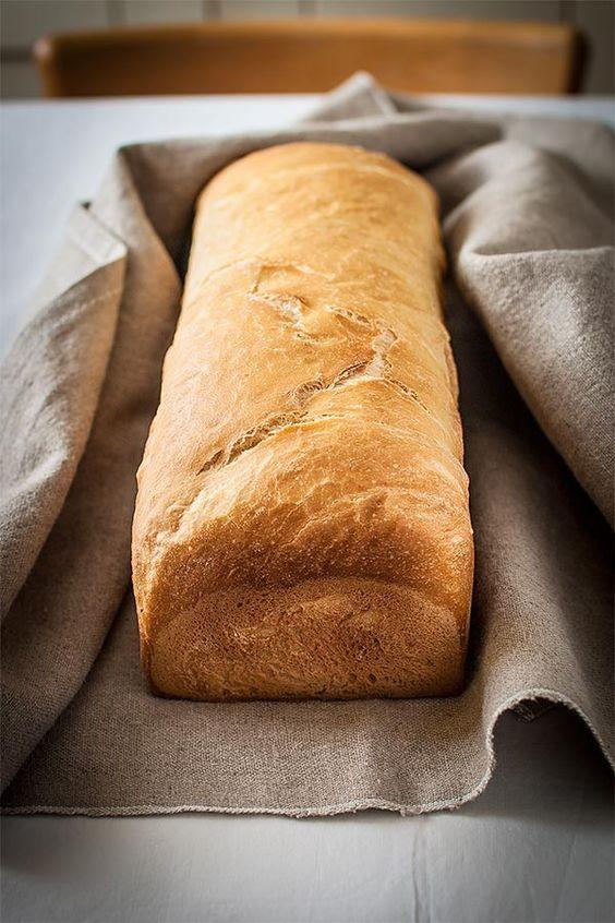 Receta de pan de molde básico