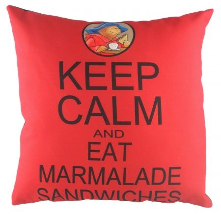 Подушка с надписью Paddington Keep Calm | Подушки | DG-Home