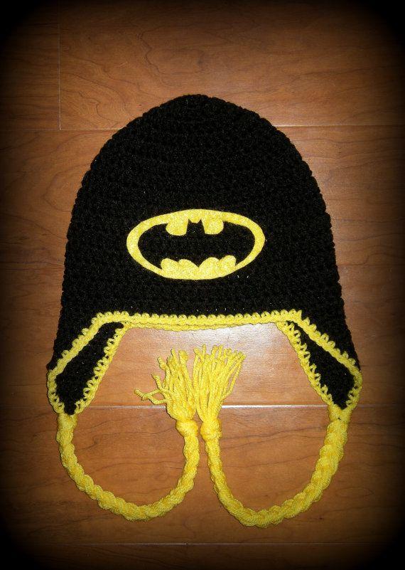 Baby Batman Hat Crochet Pattern Free : Boy or Girl, Batman, Batman Hat, Crochet Hats, Baby Girl ...