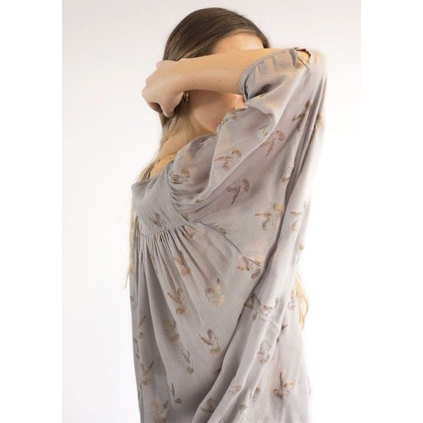 NOOKI Piccolo Top - Dove (170 CAD) ❤ liked on Polyvore featuring tops, dove, see through tops, sheer tops, brown top, evening wear tops and v neck camisole top