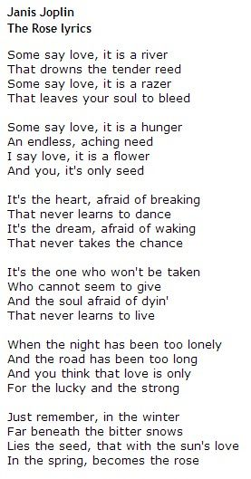 Meaning of the song the rose by bette midler
