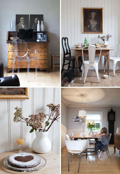 A Mix Of Antique And Modern Furniture In Swedish Home