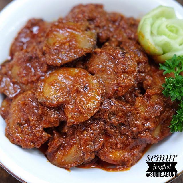 Resep Semur Jengkol Pedas Pake Nasi Doank Sudah Enak Resep Spesial Di 2020 Resep Makanan Resep Makanan