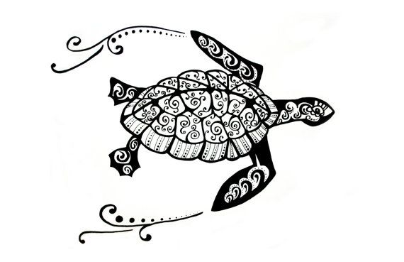 turtle zentangle print zentangle pinterest turtles sea turtles and etsy. Black Bedroom Furniture Sets. Home Design Ideas