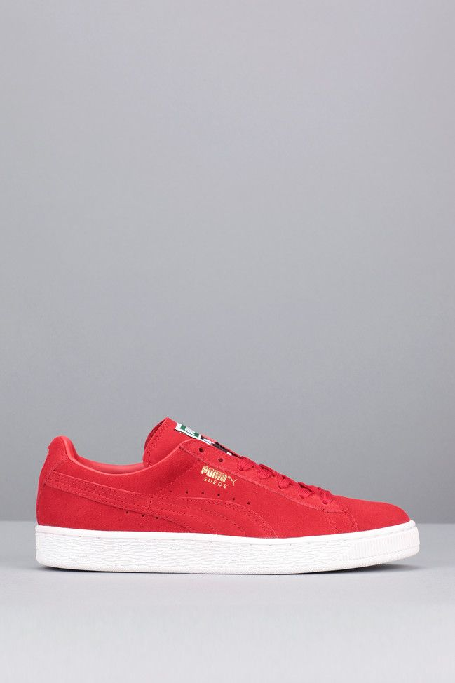 Baskets rouges cuir Suede Classic + - Puma
