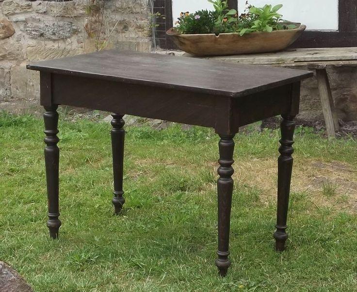 details zu gro er tisch esstisch aus massiven weichholz kiefer holz ausziehtisch um 1880. Black Bedroom Furniture Sets. Home Design Ideas