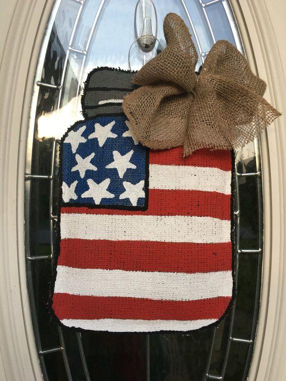 4th of July Wreath Patriotic Wreath American Flag Decor
