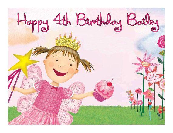 Pinkalicious edible cake image cake topper frosting sheet