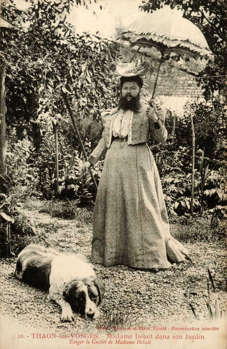 sisterwolf:    Bearded Lady Clementine Delait with dog.