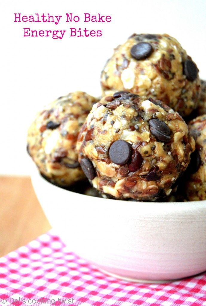 These healthy no bake energy bites packed with superfood ingredients are the perfect healthy snack to enjoy at anytime of the day | Del's cooking twist